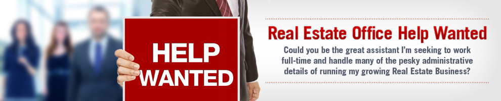 real estate office help wanted image